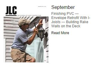 Topcoat Makes September 2014 JLC Cover